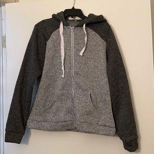 NWOT!Never worn! Colorblock Zipup hoodie w/pockets